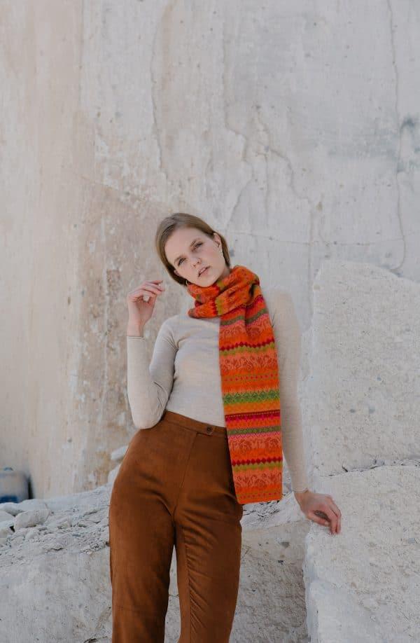 Alpaka Schal Beatriz in Orange