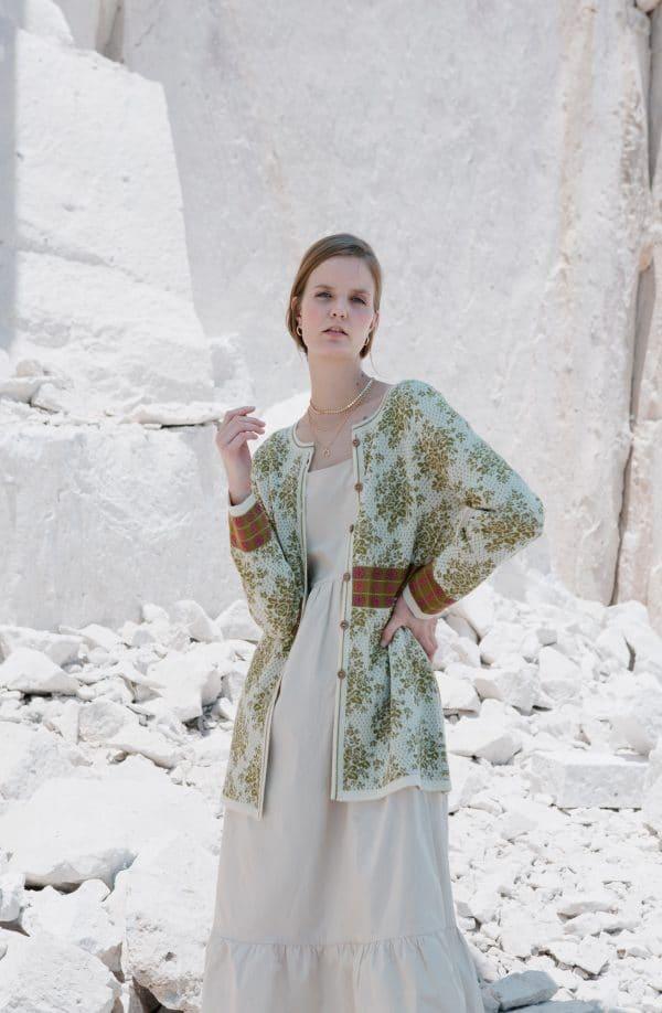 Leonie-Cardigan-Grün-Mood
